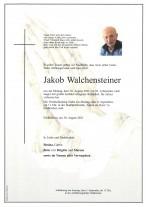 Jakob Walchensteiner, gestorben am 30.08.2021
