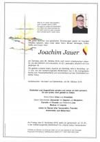 Joachim Jauer, verstorben am 26.10.2019