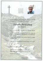 Johann Peresztegi, gestorben am 17.06.2021