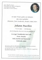 Johann Puschitz, gestorben am 28.05.2021
