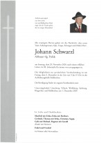 Johann Schwarzl, gestorben am 29.11.2020