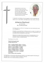 Johanna Eberhard, gestorben am 18.06.2021