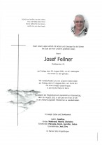Josef Fellner, gestorben am  20.08. 2021
