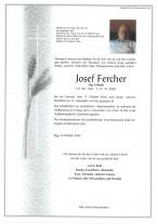 Josef Fercher,gestorben am 17.10.2020