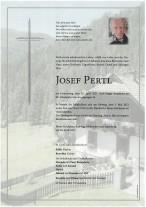 Josef Pertl, gestorben am 29.04.2021