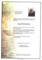 Josef Scheiber, gestorben am 13.10.2021