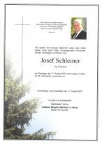 Josef Schleiner, gestorben am 17.08.2021