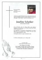 Josefine Scheiber, gestorben am 16.02.2021
