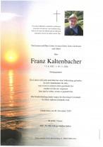 Franz Kaltenbacher, gestorben am 19.11.2020