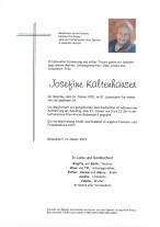 Josefa Romana Kaltenhauser, gestorben am 16.01.2021