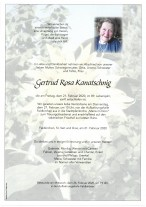 Gertrud Rosa Kanatschnig, gestorben am 21.02.2020
