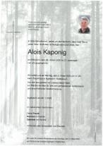 Alois Kaponig, gestorben am 29.01.2020