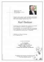 Karl Dockner, gestorben am 19.08.2021