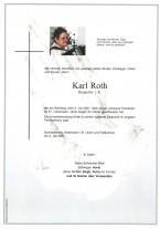 Karl Roth, gestorben am 03.07.2021