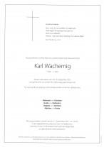 Karl Wachernig, gestorben am 10.09.2021