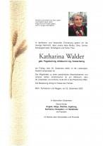 Katharina Walder, gestorben am 25.12.2020