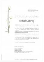 Alfred Kattnig, gestorben am 19.12.2019