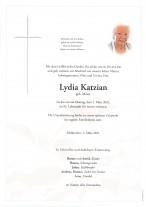 Lydia Katzian, gestorben am 01.03.2021
