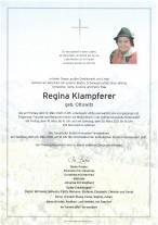 Regina Klampferer, gestorben am 12.03.2021