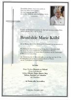 Brunhilde Marie Kölbl, gestorben am 16.11.2020