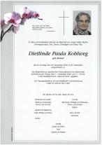 Dietlinde Paula Kohlweg,gestorben am 29.11.2020