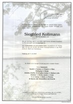 Siegfried Kollmann, gestorben am 05.07.202