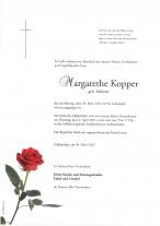 Margarethe Kopper, gestorben am 29.03.2021