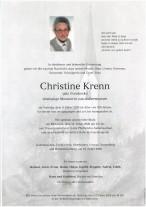 Christine Krenn, gestorben am 09.02.2020