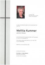 Melitta Kummer, gestorben am 10.09.2020