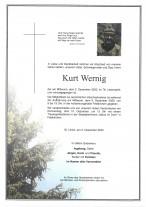 Kurt Wernig gestorben am 02.12.2020