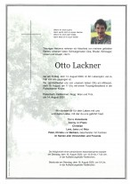 Otto Lackner, gestorben am 14.08.2020