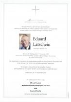 Eduard Latschein, gestorben am 17.11.2020