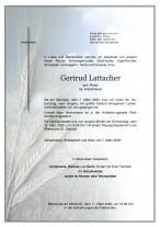 Gertrud Lattacher, gestorben am 07.03.2020