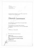 Dietrich Lautemann, gestorben am 17.01.2020