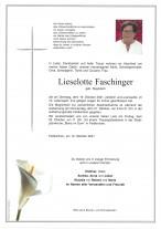 Lieselotte Faschinger, gestorben am 19.10.2021