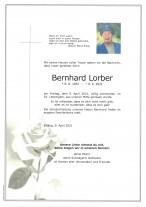 Bernhard Lorber, gestorben am 09.04.2021