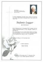 Stefanie Lugger, geb. Steinwender, gestorben am 18.11.2019