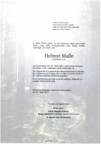 Helmut Malle, gestorben am 25.02.2021