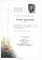 Mandy Missbichler, gestorben am 01.07.2021