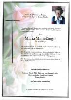 Maria Maneßinger,gestorben am 20.07.2020