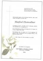Manfred Ebenwallner, gestorben am 21.07.2021