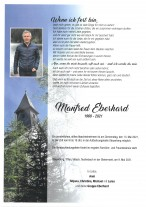 Manfred Eberhard, gestorben am 09.05.2021