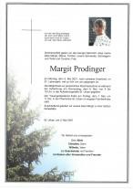 Margit Prodinger, gestorben am 03.05.2021