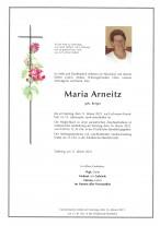 Maria Arneitz, gestorben am 11.01.2021