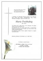 Maria Freithofnig, gestorben am 12.03.2021