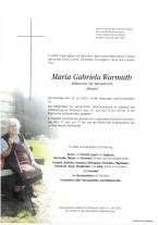 Maria Gabriela Warmuth, gestorben am 13.06.2021