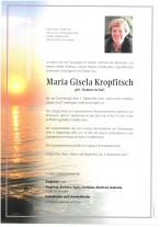 Maria Gisela Kropfitsch, gestorben am 01.09.2021