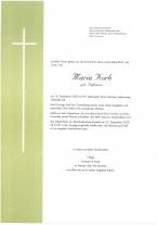 Maria Korb, gestorben am 18.12.2020