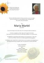 Maria Marktl, gestorben am 28.01.2021