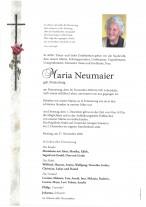 Maria Neumaier, gestorben am 26.11.2020